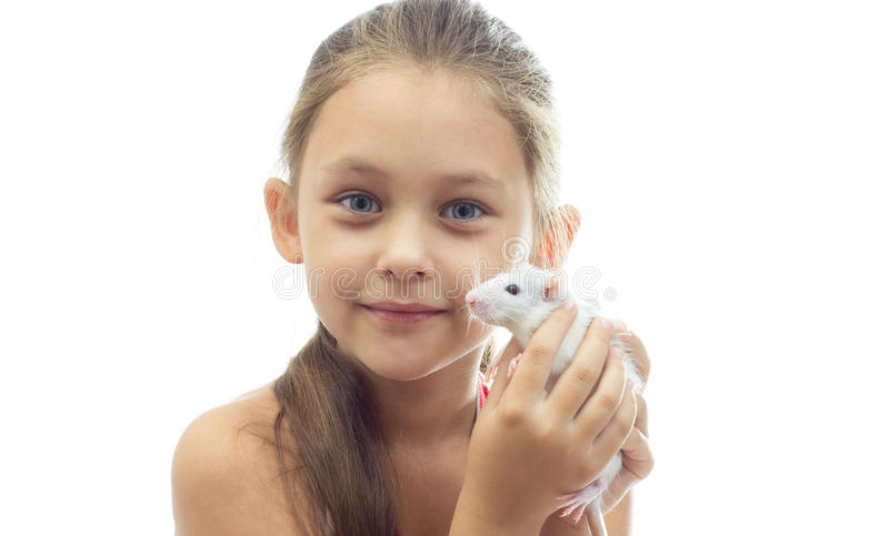 Children and pets royalty free stock photo