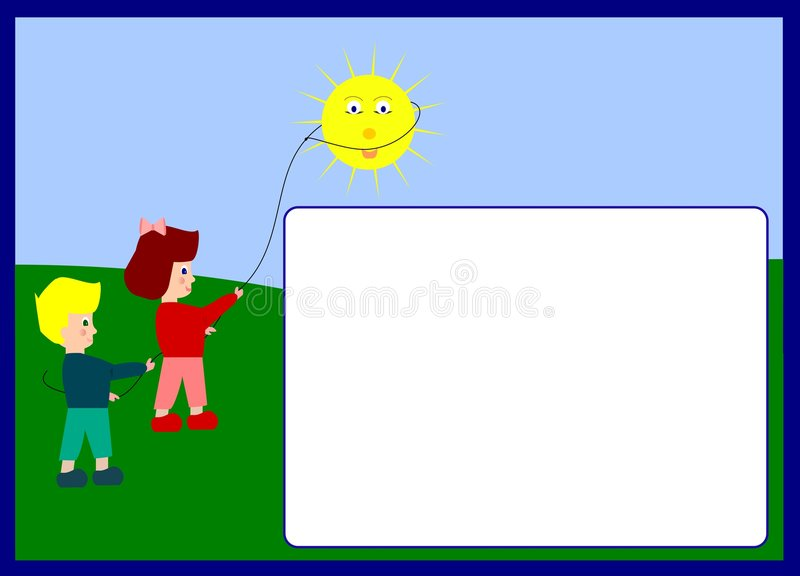Children photoframe stock image