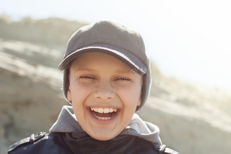 backlight child close up happy smile portrait royalty free stock photos
