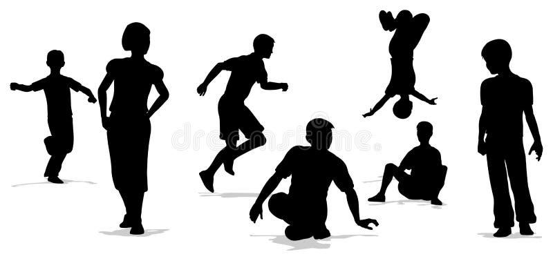 Children play group vector illustration