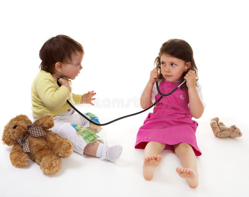 Children play hospital