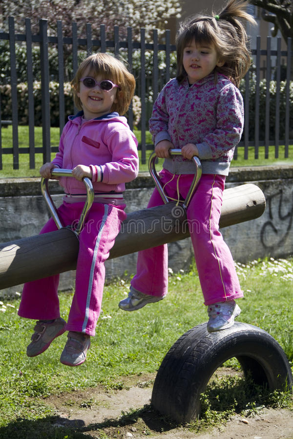 Children At The Playground Stock Photography