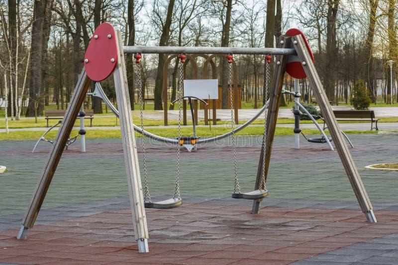2 children playground стоковое фото rf