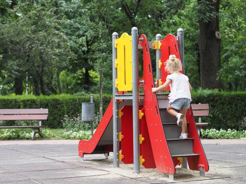 2 children playground 库存照片