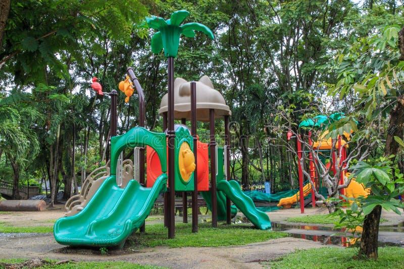 2 children playground стоковая фотография rf