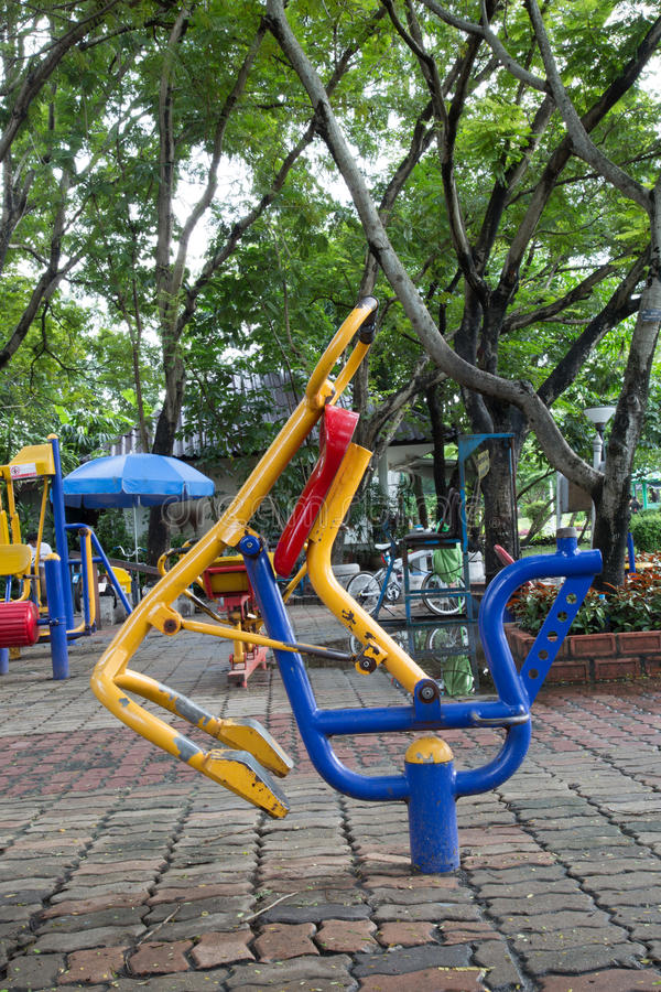2 children playground стоковое изображение rf