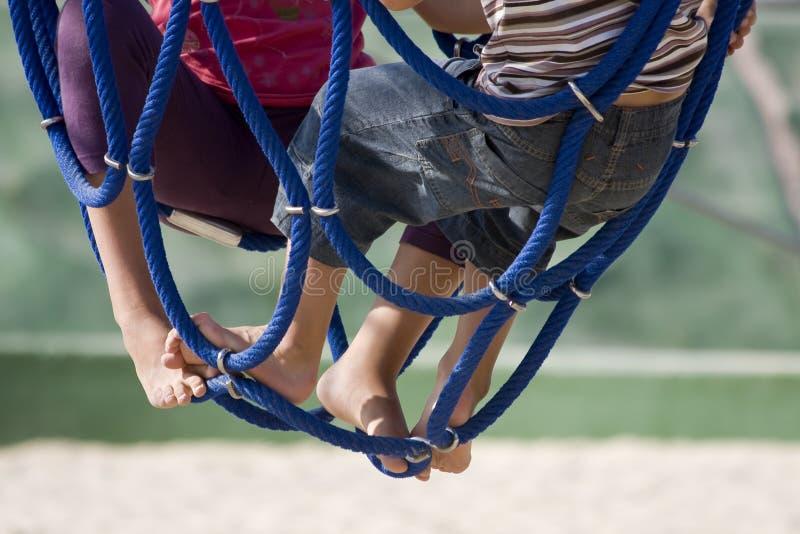 Children at the playground royalty free stock photo