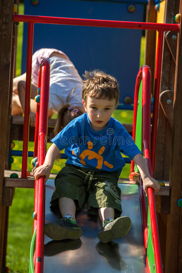 Children on the playground stock photo