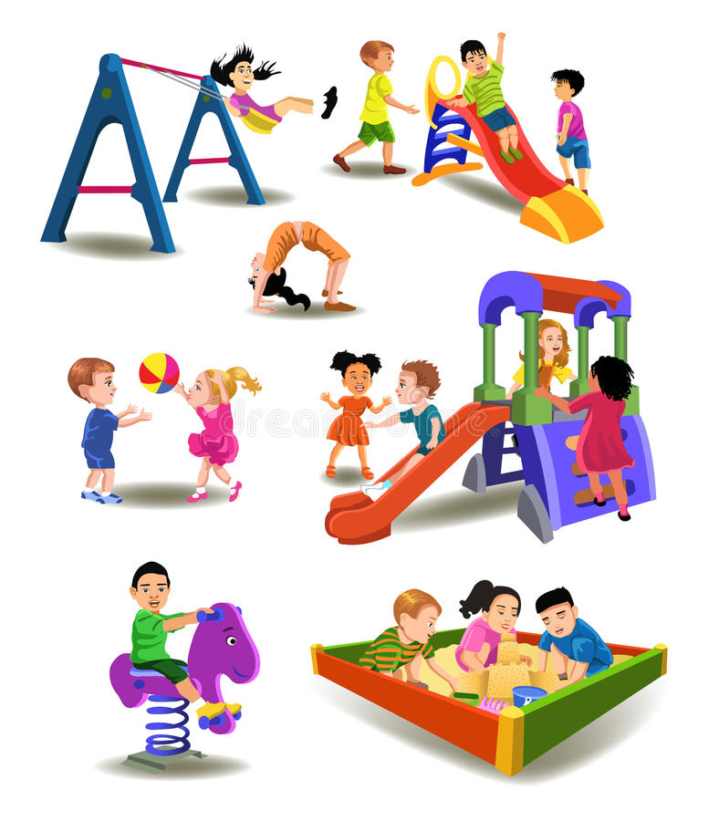 Download Children at the playground stock vector. Illustration of enjoy - 31549249
