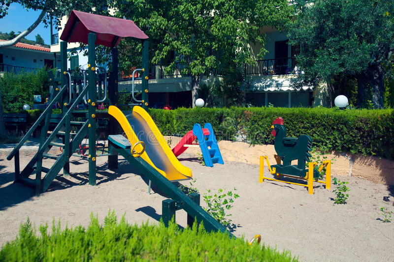 Children playground for kids game stock photos