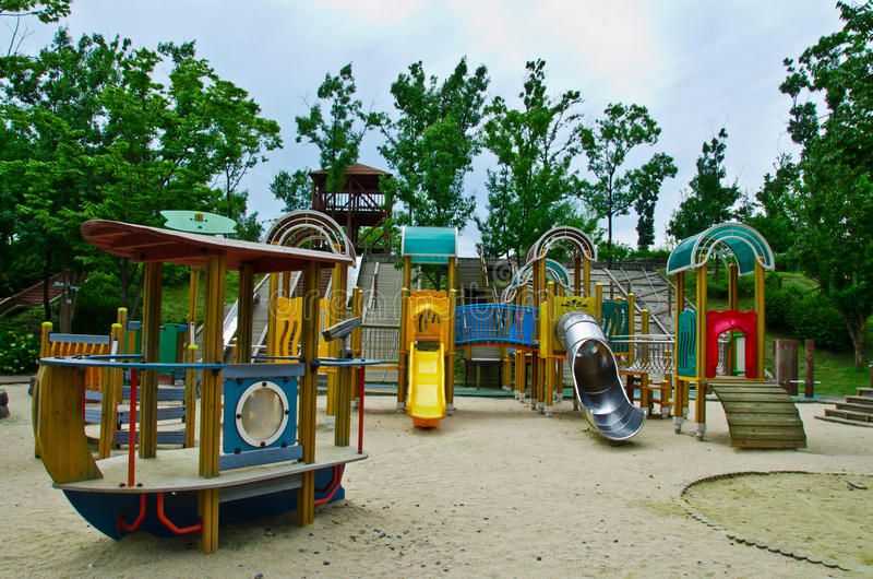 Download Children Playground In The Park Stock Photo - Image: 20935046