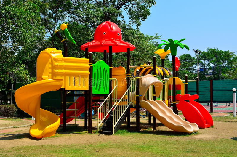 Download Children Playground In Park Stock Image - Image: 23512731