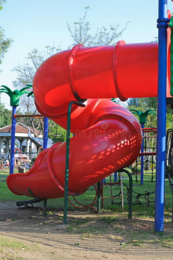 Download Children Playground In Park Stock Image - Image of plastic, colorful: 27598689