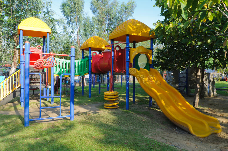 Download Children Playground In Park Stock Image - Image: 27598719