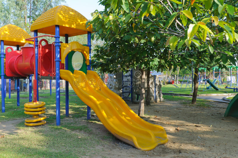 Download Children Playground In Park Stock Photo - Image: 27598740