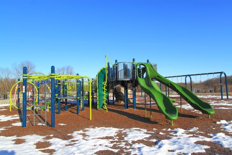 Download Snow Playground stock photo. Image of slides, children - 38134196