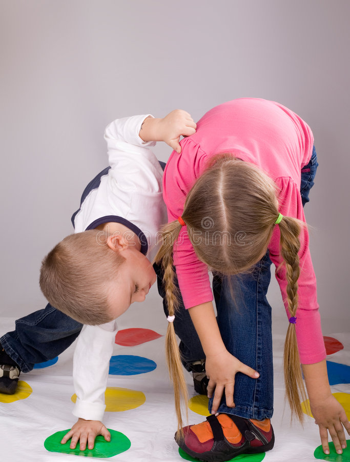 Children playing. Children, brother and sister are playing at home stock photography