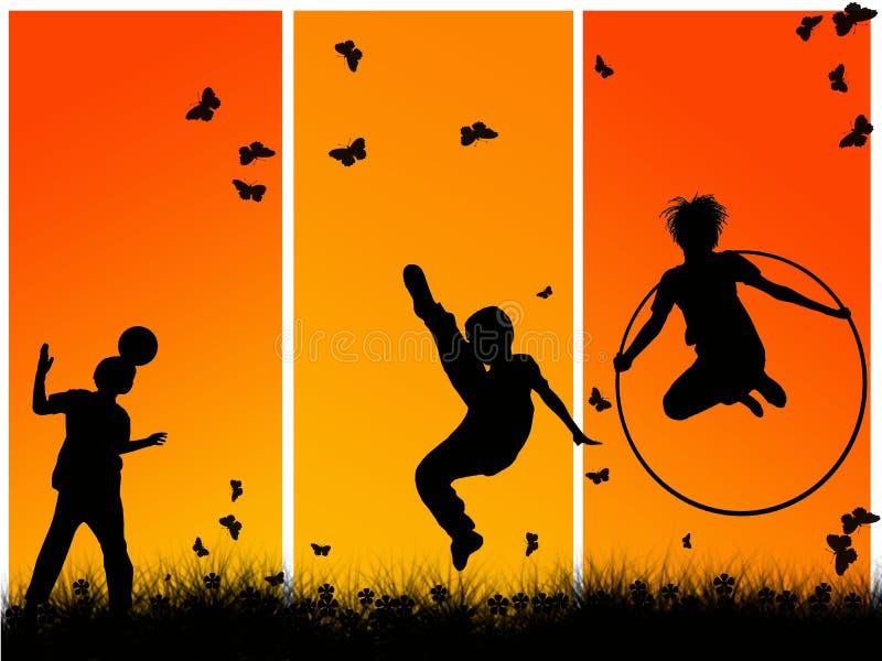 Download Children playing stock illustration. Illustration of beach - 9022550