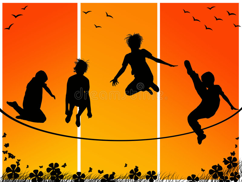 Download Children playing stock illustration. Image of hope, child - 9022742