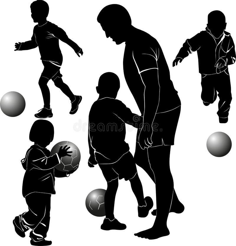 Children playing ball vector illustration
