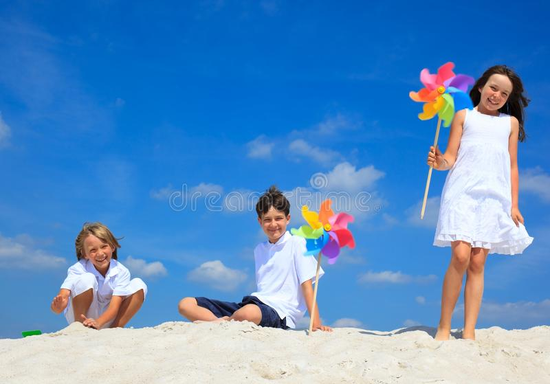 Download Children Playing On Beach Royalty Free Stock Photography - Image: 11339587