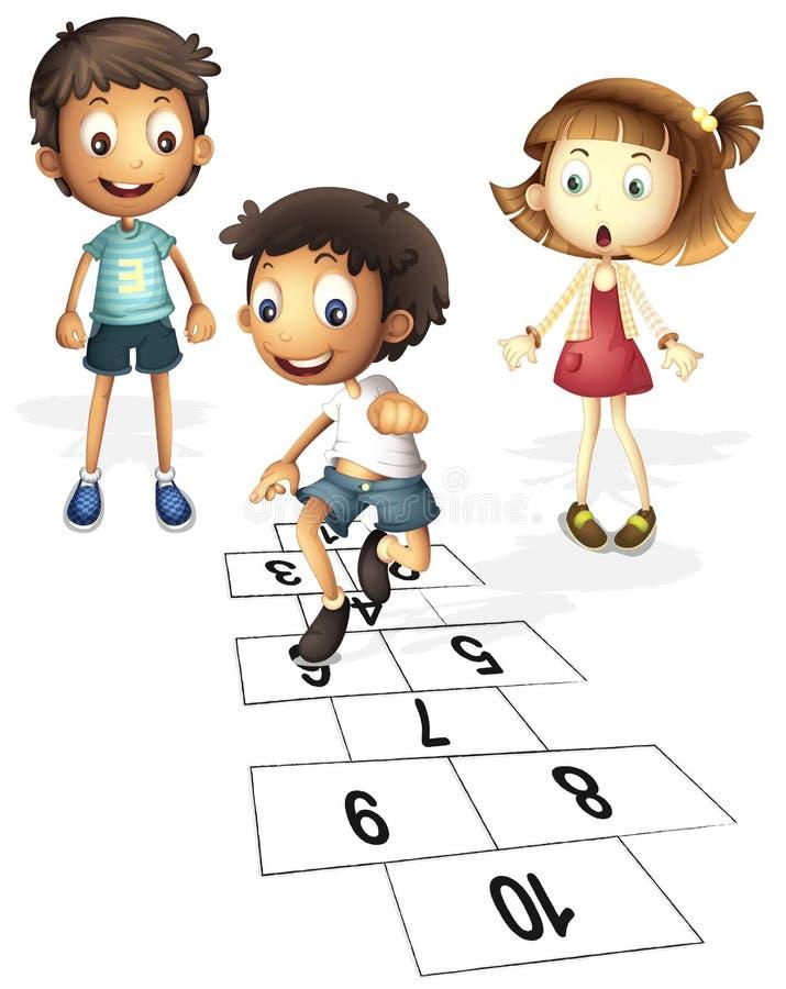 Children playing vector illustration