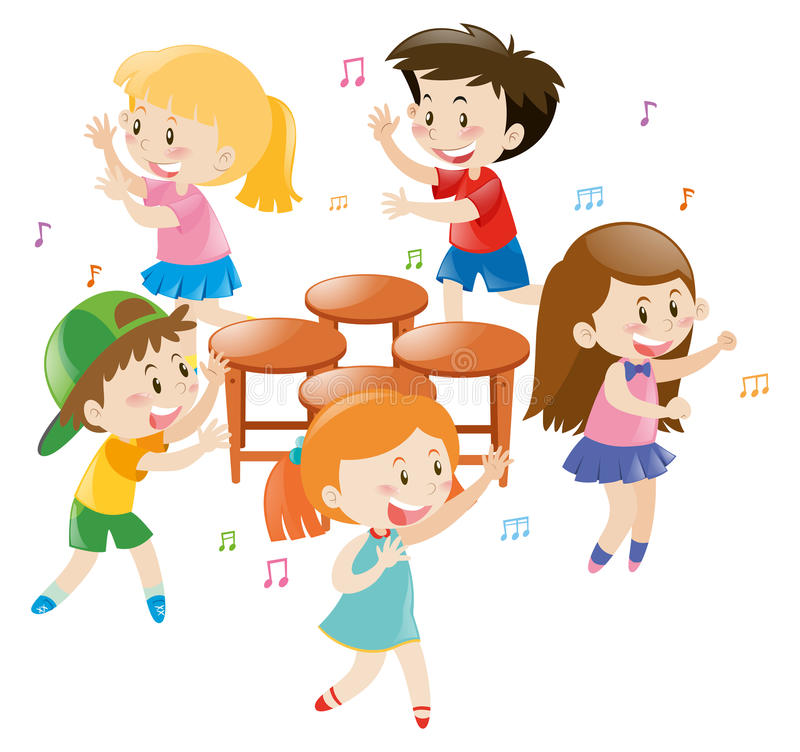 Download Children Playing Music Chair Stock Illustration   Illustration Of  Game, Clipart: 79636220