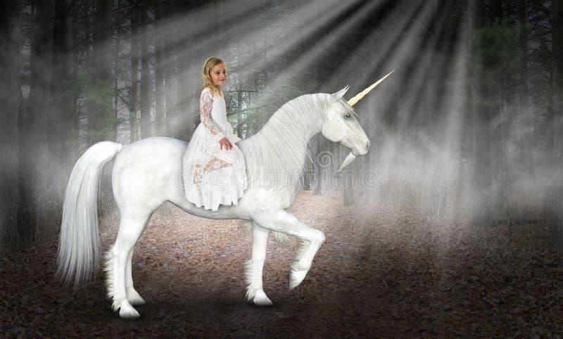 Children Playing, Pretend, Imagination, Unicorn stock images