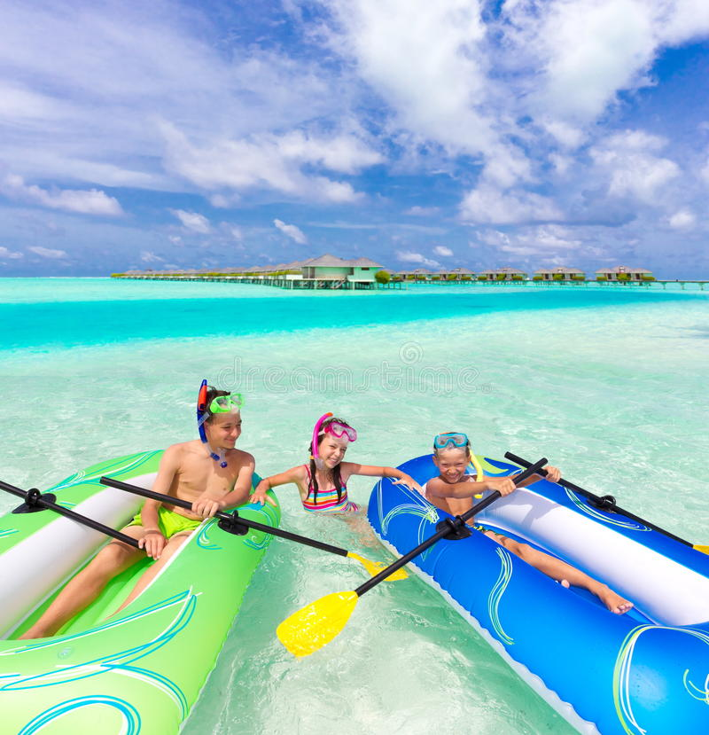 Download Children Playing With Rafts Stock Photo - Image: 16590284