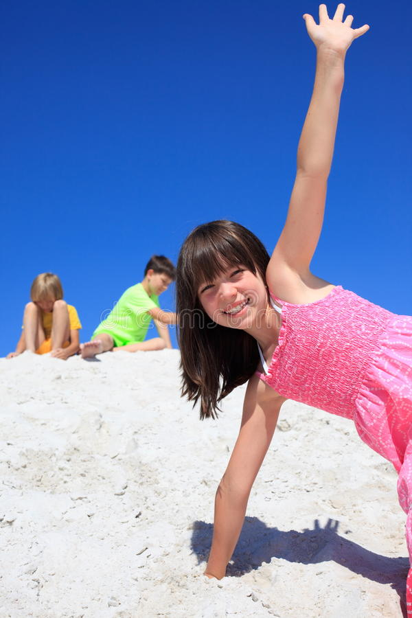 Download Children playing on sand stock image. Image of brother - 13760757