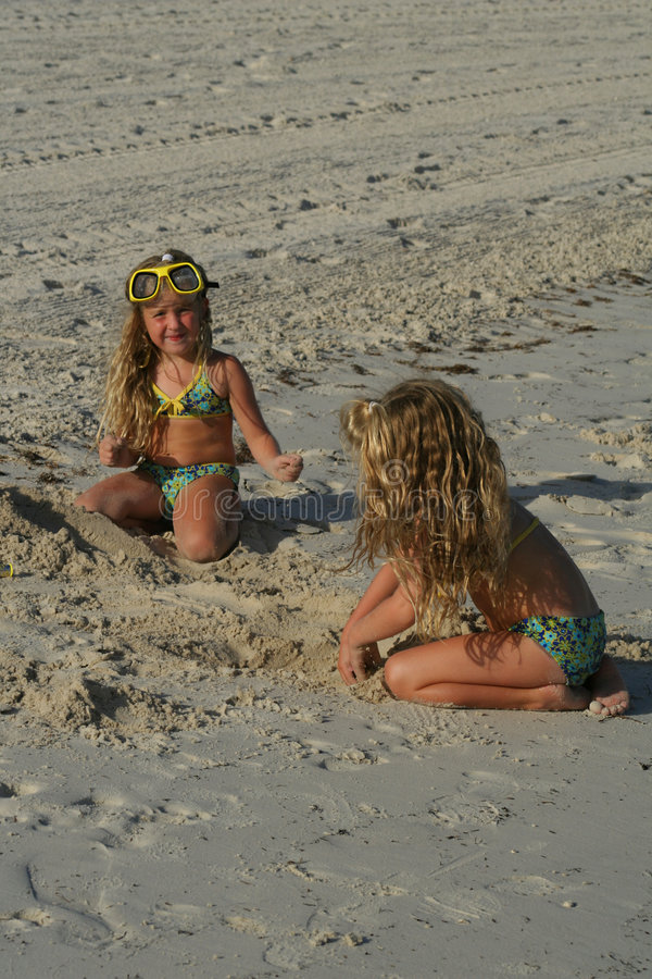 Download Children Playing In The Sand Stock Image - Image: 1661399