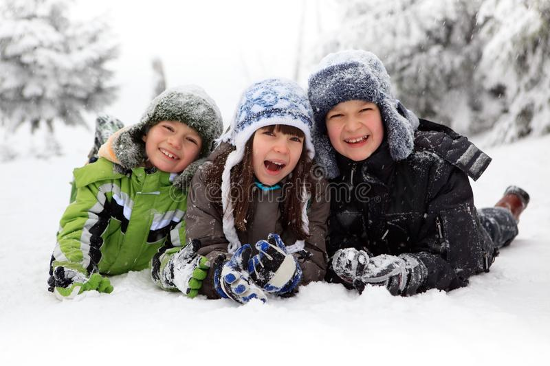 Download Children playing in snow stock photo. Image of outside - 11572538