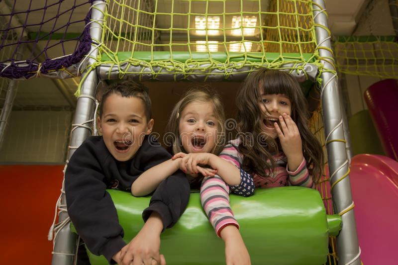Children in the playroom royalty free stock image