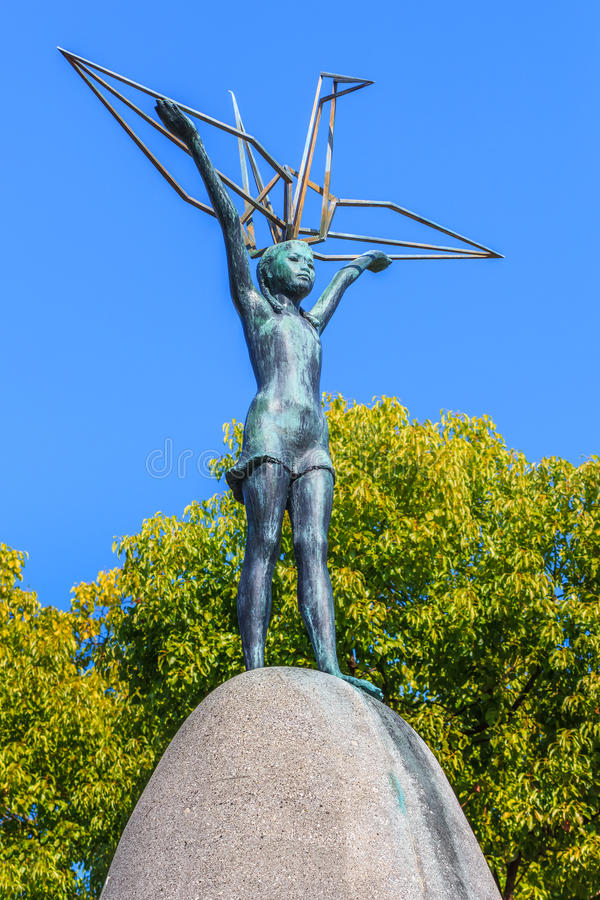 Children pokoju zabytek w Hiroszima obraz royalty free