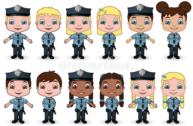 Download Children Police Set 1 Stock Image - Image: 14102121