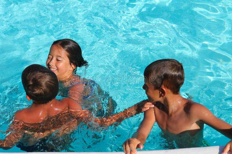 Download Children in the pool stock image. Image of people, pool - 20755329