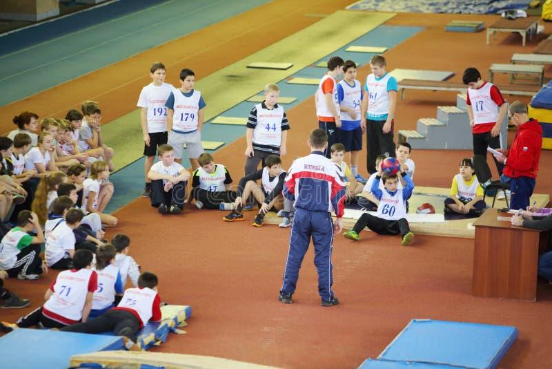 Children prepare to children competition