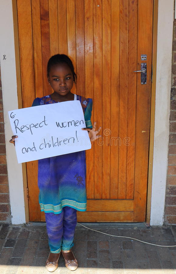 Children protest against abuse Johannesburg South Africa royalty free stock images
