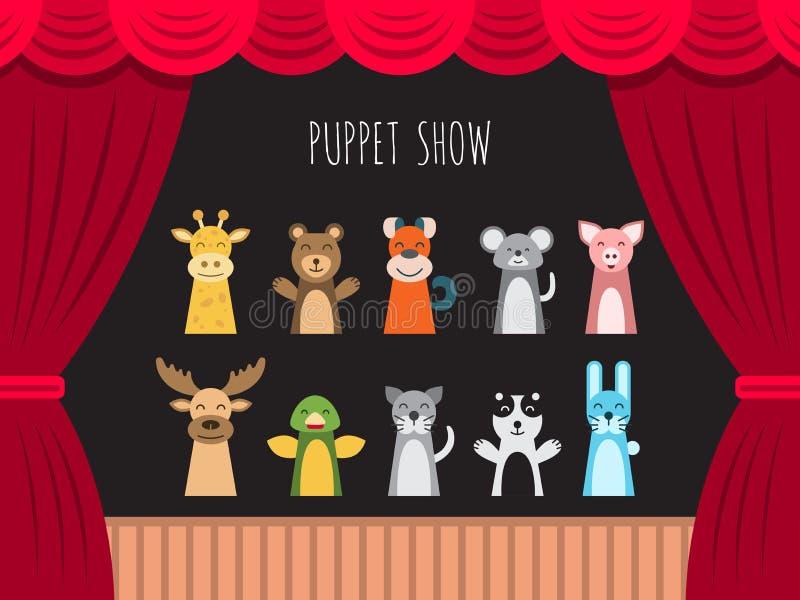Children puppet theatre stock illustration