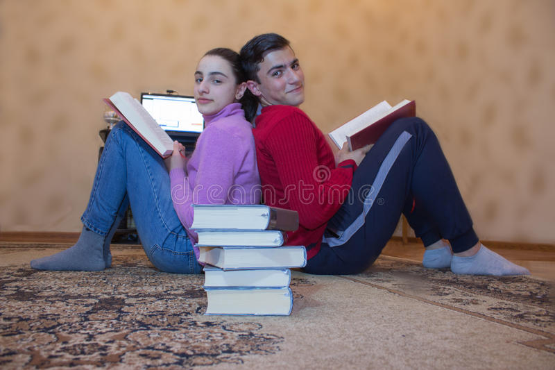 Children read books. Education and development of life skills royalty free stock photos