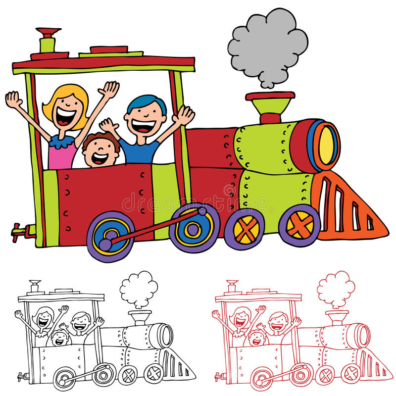 Download Children Riding Train stock vector. Image of riding, girl - 20642027