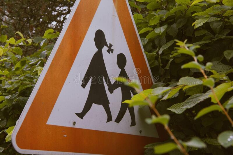 Children road sign royalty free stock image