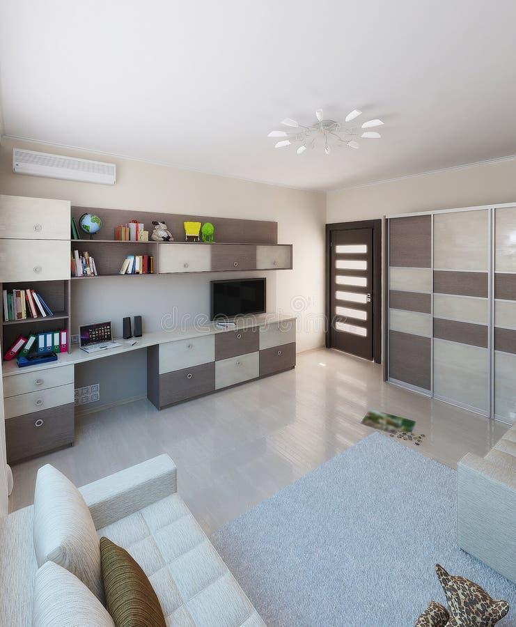 Download Children Room Interior Design, 3D Render Stock Illustration -  Image: 60755768