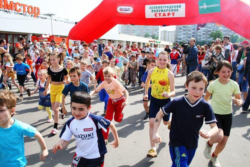 Download Children runs editorial stock image. Image of caucasian - 6368294