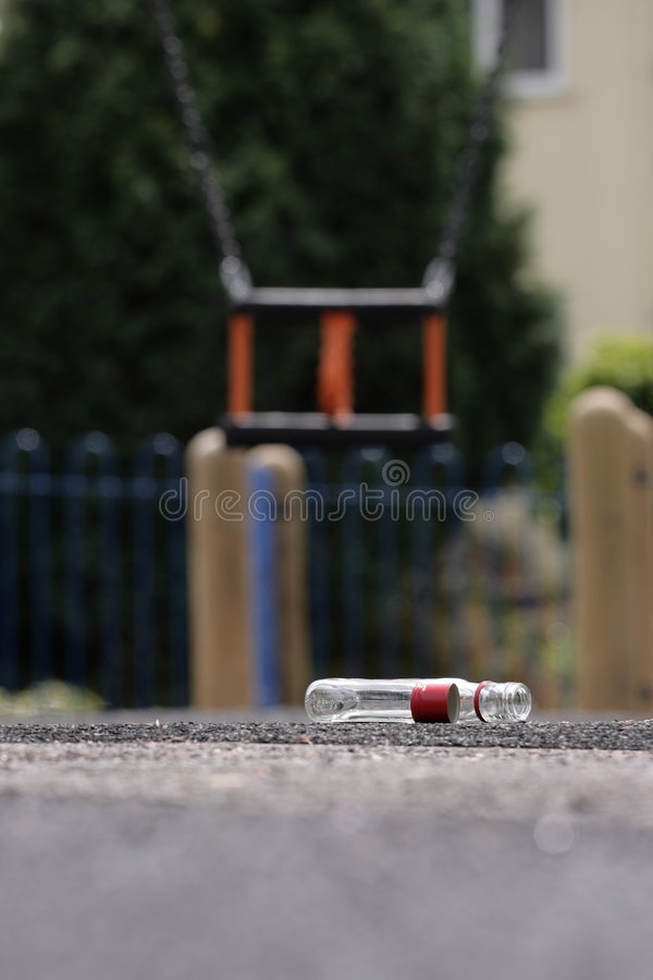 Download Children's Alcoholism Playground Warning Stock Photo - Image: 5360914
