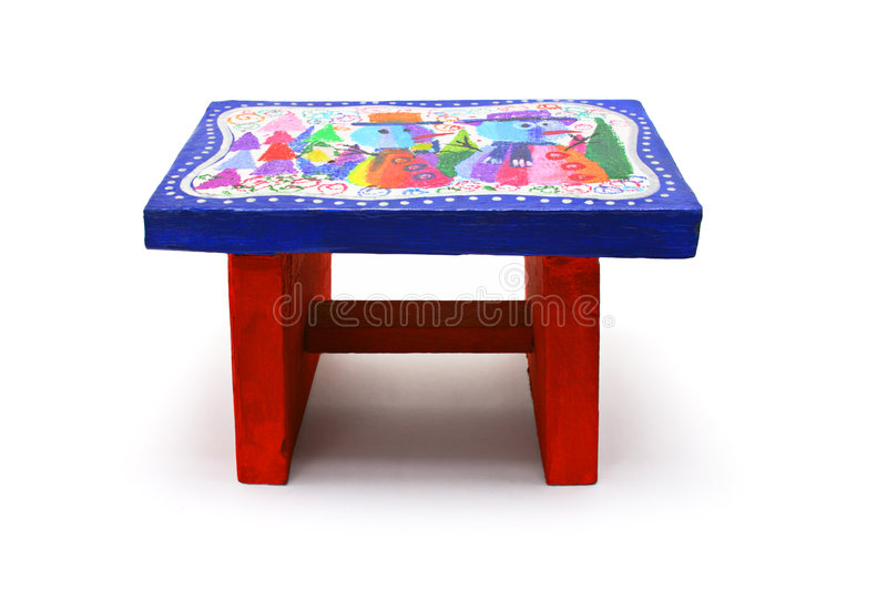 Children S Art And Craft - Colourful Stool Stock Photos