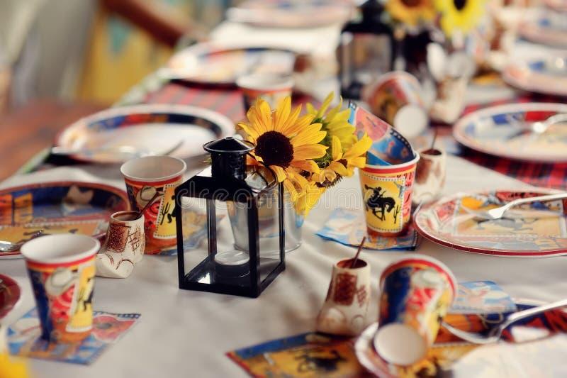 Children's banquet royalty free stock photo