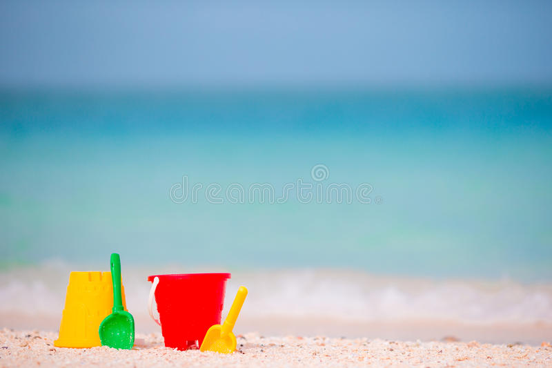 Children S Beach Toys Background The Sea Stock Photo ...