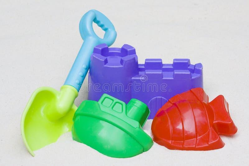 Children s beach toys in the sand