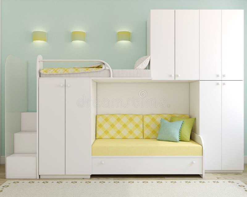 Download Children's bedroom stock illustration. Image of horizontal - 28700104